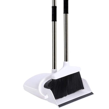 Broom and Dustpan/Dust Pan and Broom Combo Set with Long Handle for Upright Sweep Lobby Office Pet Hair Sweeping Kitchen House, 52