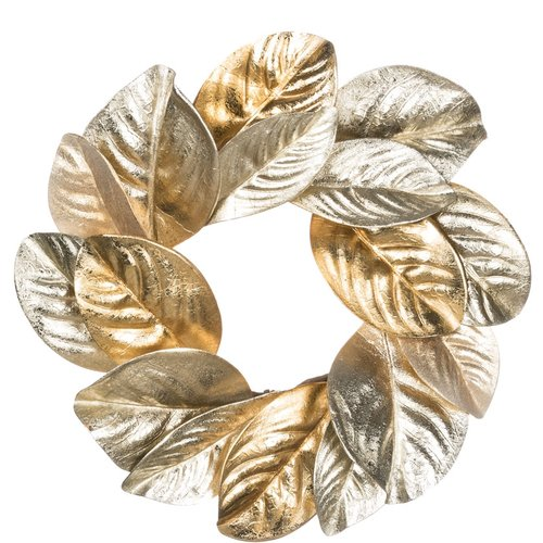 The Holiday Aisle Magnolia Leaf Accent Ring 16'' Plastic Wreath
