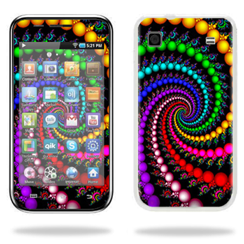 Mightyskins Protective Vinyl Skin Decal Cover for Samsung Galaxy Player 4.0 MP3 Player wrap sticker skins Trippy Spiral