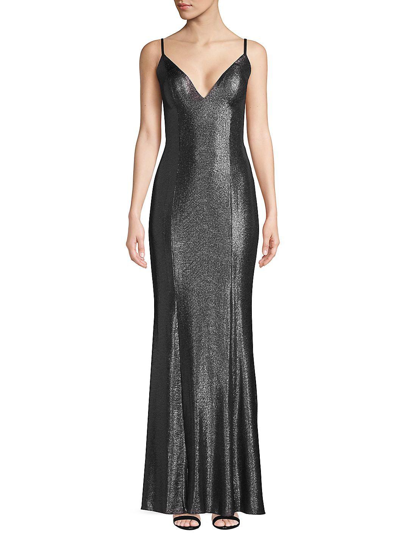 Sleek Foil Dress