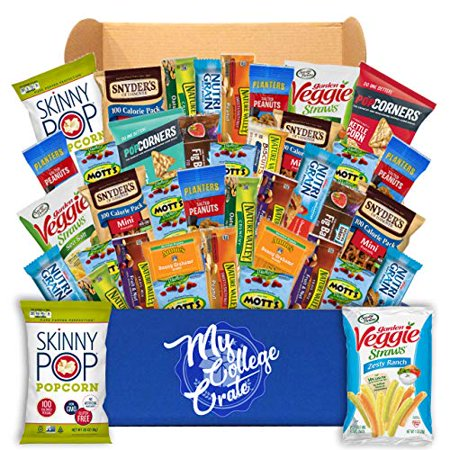 My College Crate Ultimate Healthy Snack Care Package for College Students - Variety Assortment of Healthy Snacks (40 Snacks) - The Healthy College Survival Kit