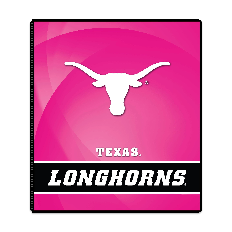 """NCAA Texas Longhorns 3 Ring Binder, 175 Sheet Capacity, 1"""" Metal Rings"""