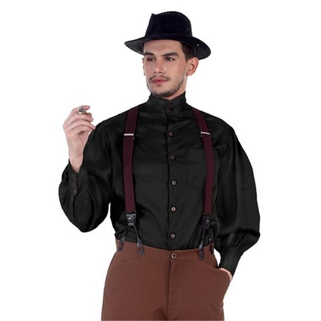The Pirate Dressing C1292 Seigneur Shirt, Black - Extra Large - image 1 de 1