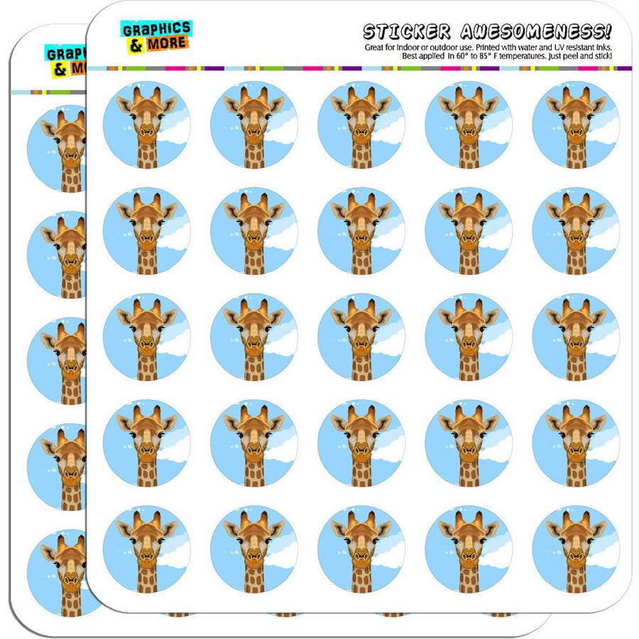 "Giraffe Zoo Animal Safari 50 1"" Planner Calendar Scrapbooking Crafting Stickers"