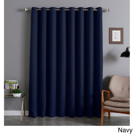 Aurora Home Extra Wide Thermal 96 Inch Blackout Curtain Panel Navy