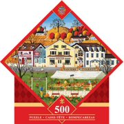 MasterPieces Farmer's Market - Pumpkins 500 Piece Diamond Shaped Jigsaw Puzzle by Art Poulin