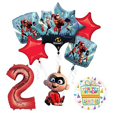 Mayflower Products Incredibles Jack Jack party supplies 2nd Birthday Balloon Bouquet Decorations](Union Jack Balloons)