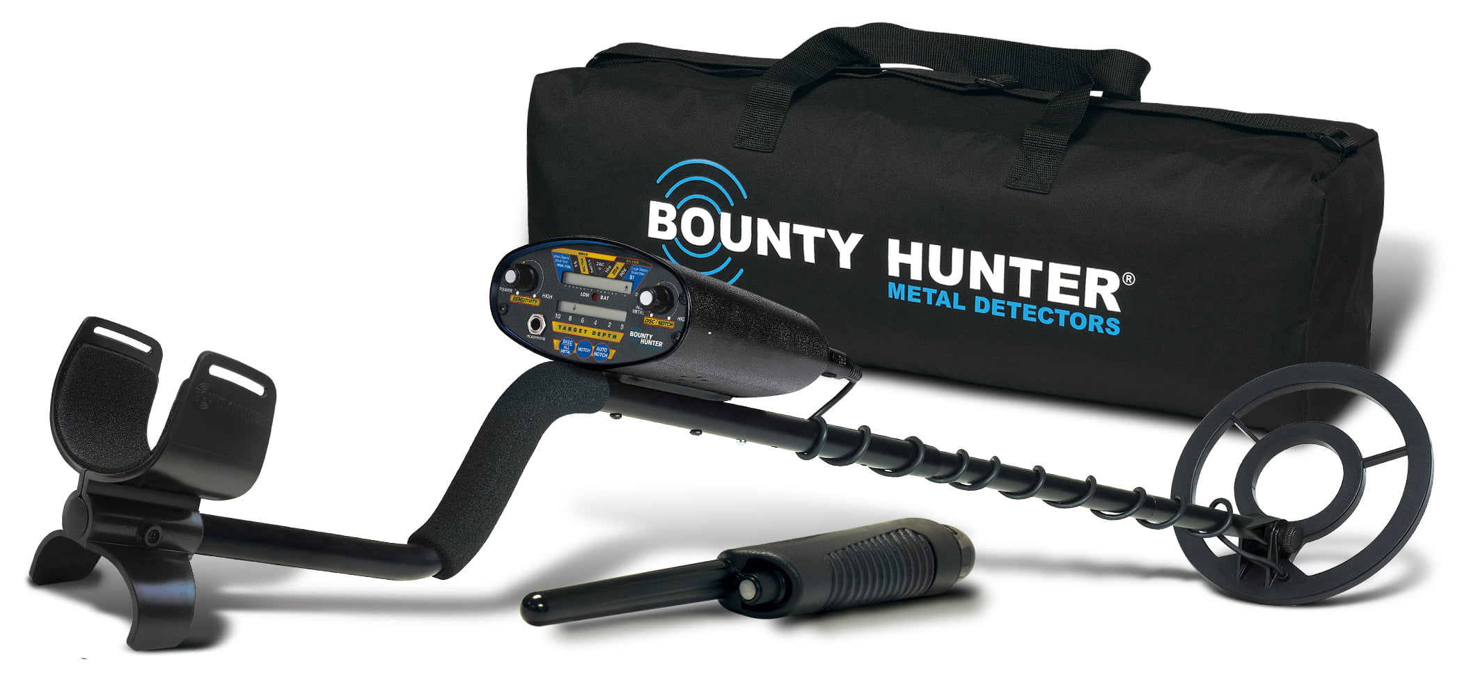 Bounty Hunter Quick Draw 2 Hobby Metal Detector with Bonus Pinpointer and Carry Bag by First Texas Products