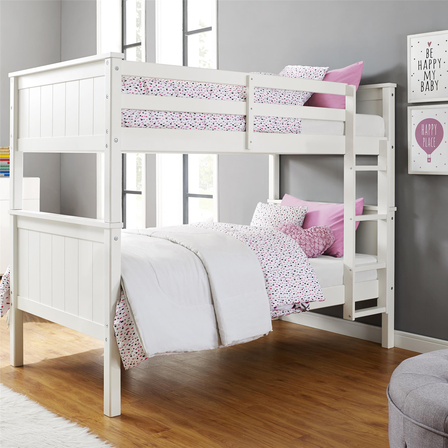 Better Homes and Gardens Ashcreek Twin Bunk Bed, Multiple Colors