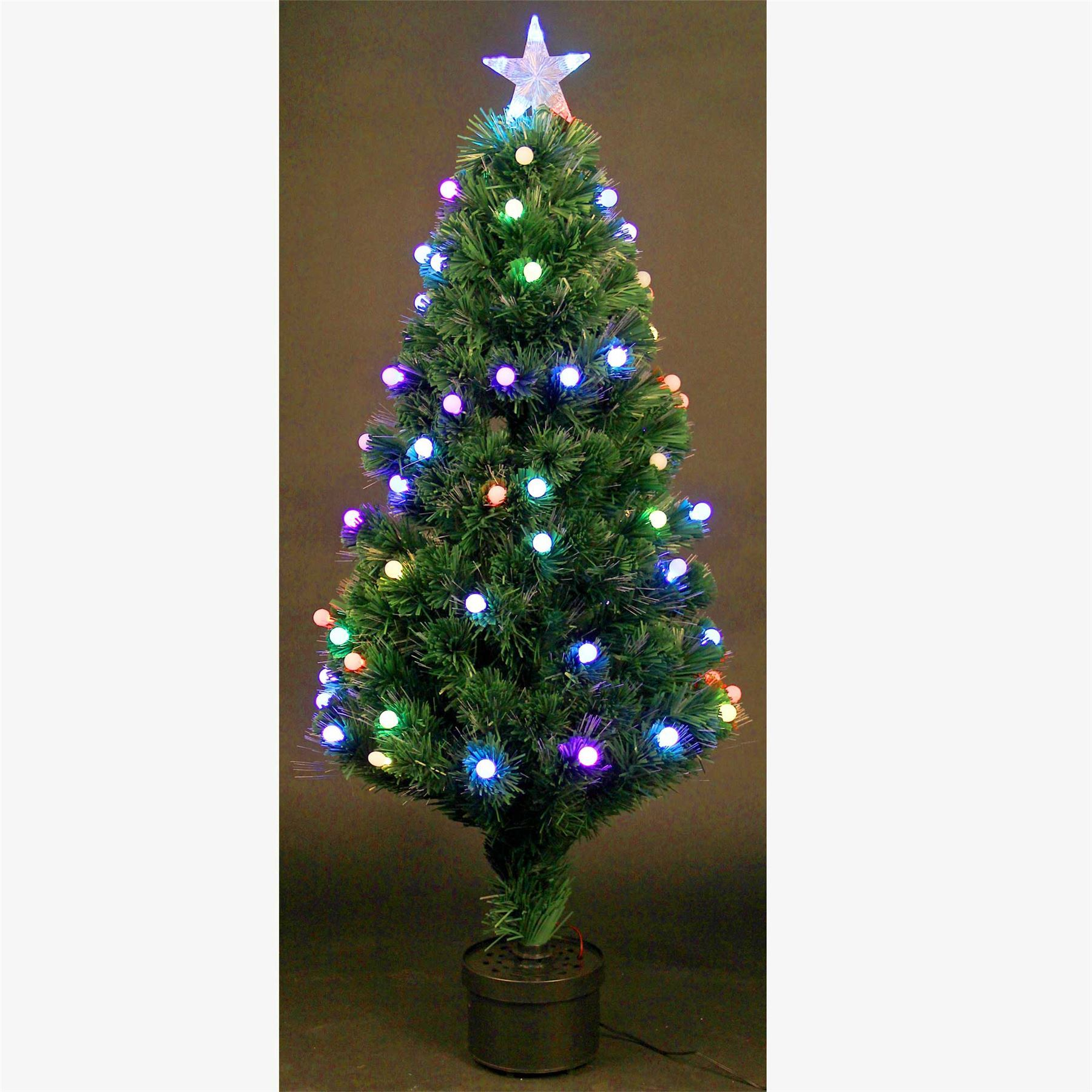 5ft Christmas tree Fiber Optic Pre-Lit xmas tree with Berry LED ...