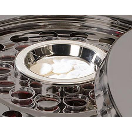Communion Tray-Center Bread Plate-Silver