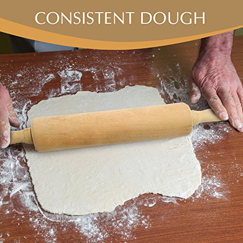Cookie Beech Muso Wood Small Rolling Pin for Baking,Wooden Rolling Pin 11 inches for Fondant Pie Crust Pastry Dough-Easy to Clean