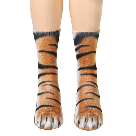1cdd82e3b58 WHAT ON EARTH - Unisex Adult Animal Paw Crew Socks - Sublimated Print -  Walmart.com