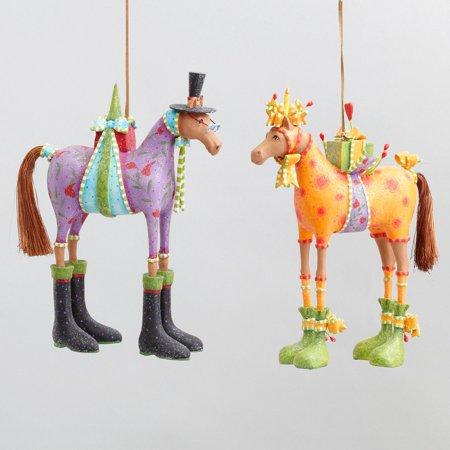 Patience Brewster Krinkles Halloween (Patience Brewster Krinkles Marcel & Maisy Horse Orn.  Set of)