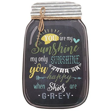 (Barnyard Designs You Are My Sunshine Mason Jar Wall Decor Sign, Vintage Primitive Country Decor 14.25