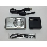 Refurbished Nikon Coolpix A3300 20 MP Point & Shoot Digital Camera, Silver