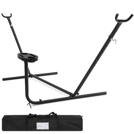 Best Choice Products Portable 10 ft. Hammock Stand w/ Accessories (Toy Hammock Black)