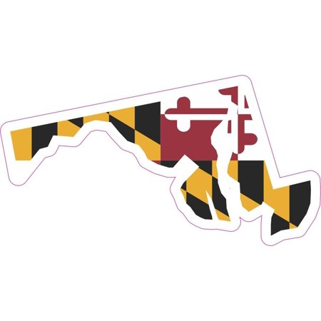 5x2 5 die cut maryland state flag bumper sticker decal vinyl window