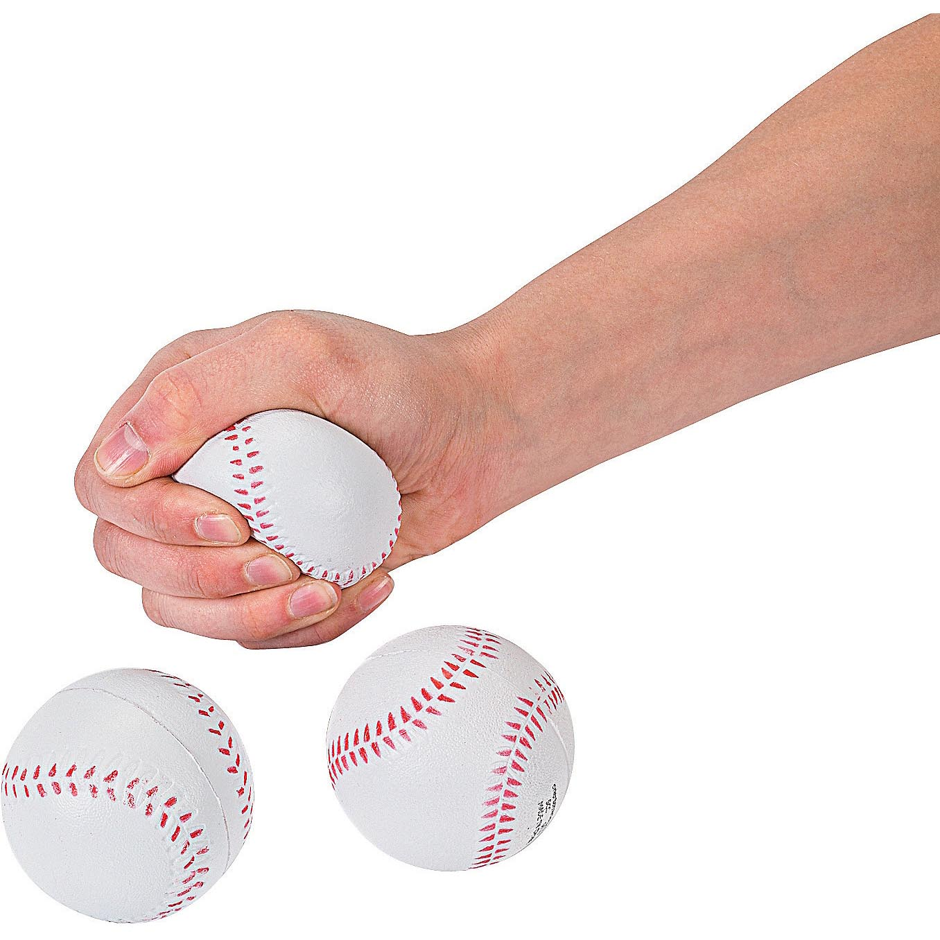 Lot of 12 Foam Baseball Stress Relief Squeezable Balls Party Favors by happy deals