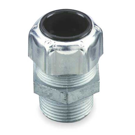 TYRAP 2922 Liquid Tight Connector, 1/2in., Silver
