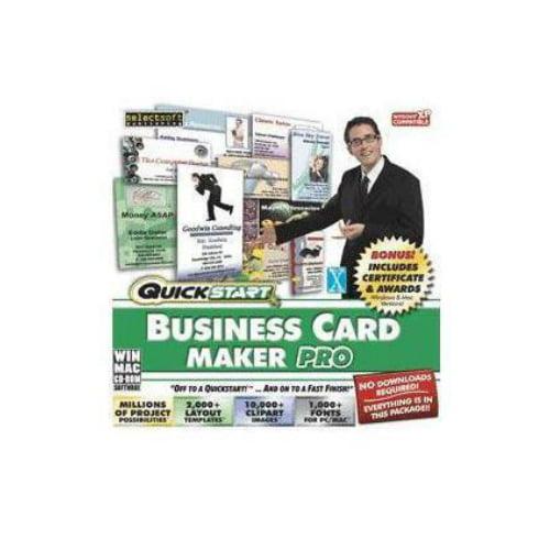 SelectSoft QuickStart: Business Card Maker Pro (Windows) (Digital Code)