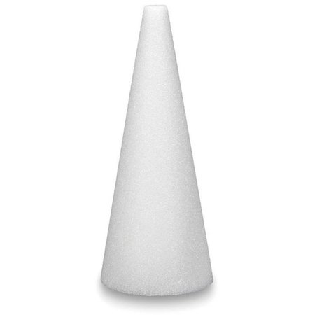 15 x 4 in. Styrofoam Cone - White - Wholesale Styrofoam Cones
