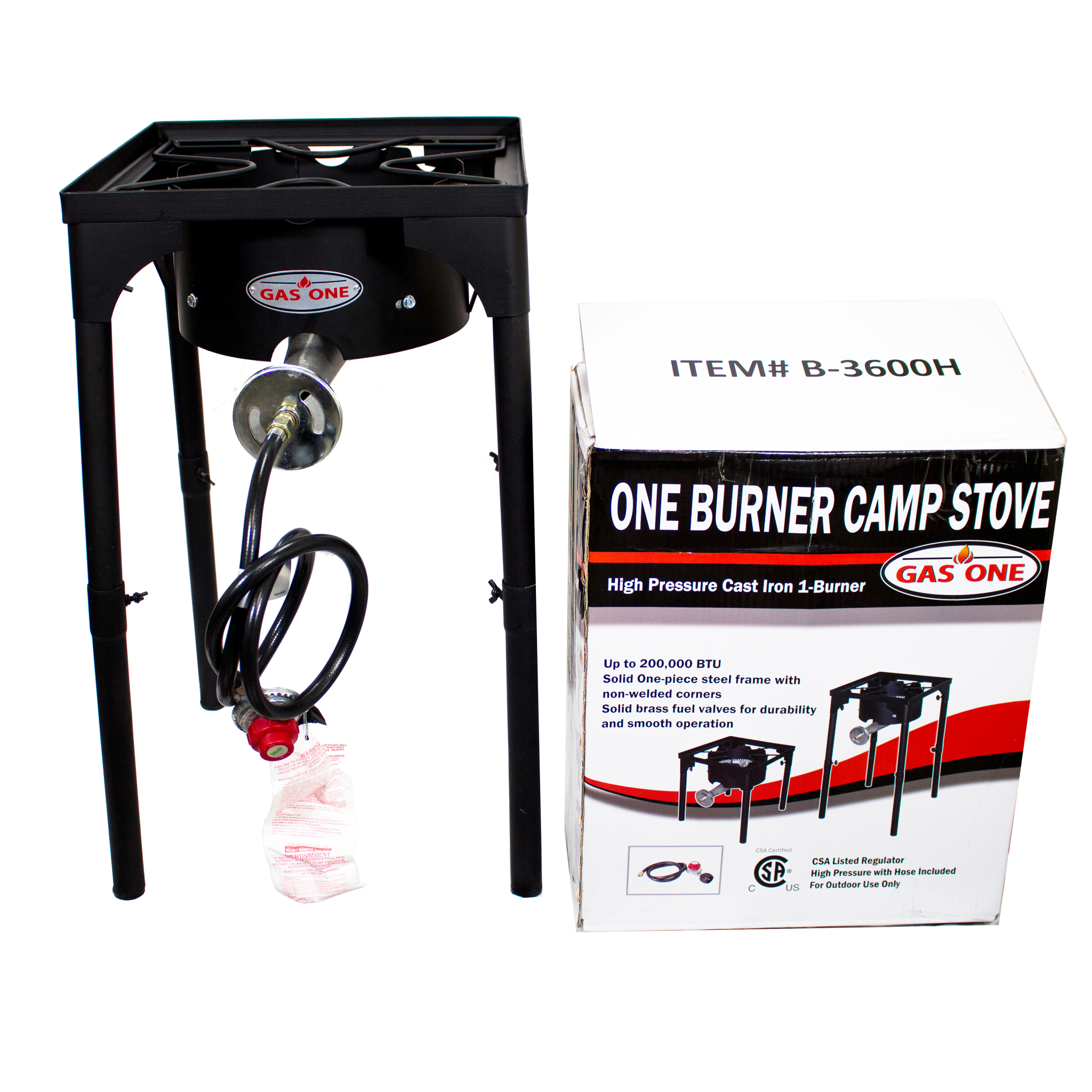 GAS ONE Portable Propane 200,000-BTU High-Pressure Single-Burner ...