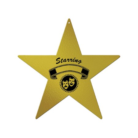 Gold Star Movie Awards Night Party Celebration Big Wall Prop Set Decoration - Movie Star Theme Party