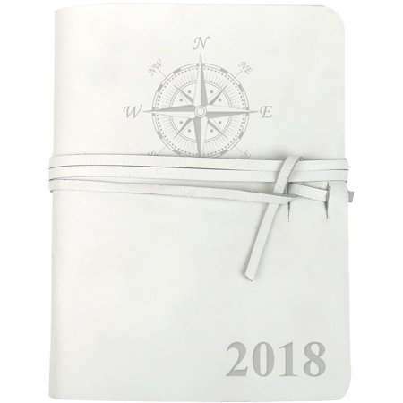Compass Personalized Genuine Leather Wrap Journal, 5 3/4