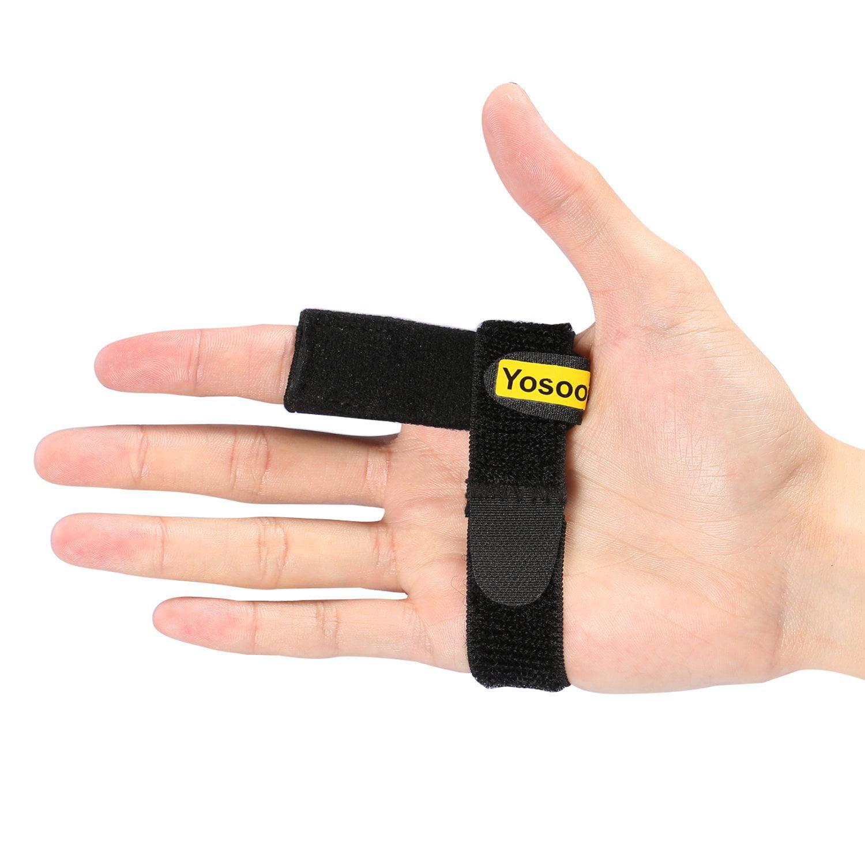Yosoo Trigger Finger Splint Hook Loop Tape Finger Support Brace