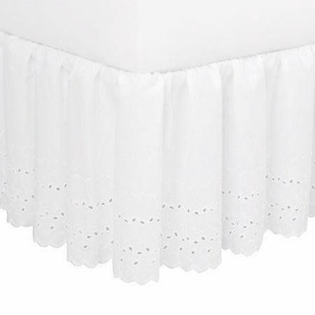 6cdd0360b Fresh Ideas Fresh Ideas Eyelet Extra Long Bed Skirt - Walmart.com
