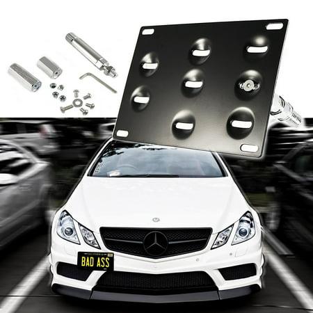 Xotic Tech 1 Set Front Tow Hook License Plate Bumper Mounting Bracket Fit Mercedes-Benz C E S M GLA GLK CLA ML SL AMG