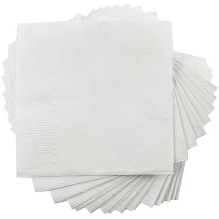 JAM Paper Medium Lunch Napkins - 6 1/2 x 6 1/2 - White - 50/Pack