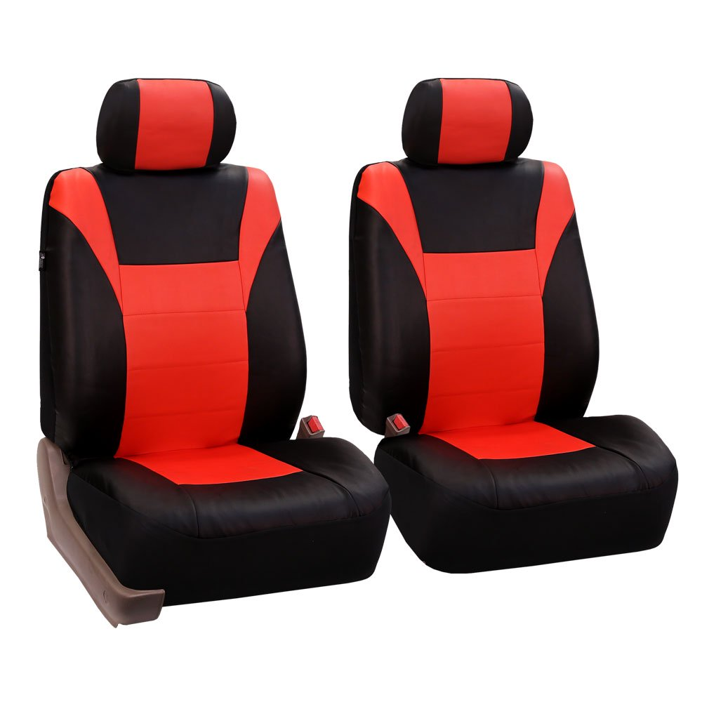 Fh Group Red Black Racing Faux Leather Airbag Compatible Split