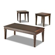 Made to Order Maxwell Cocoa Brown Birch Wood 3-piece Table Set