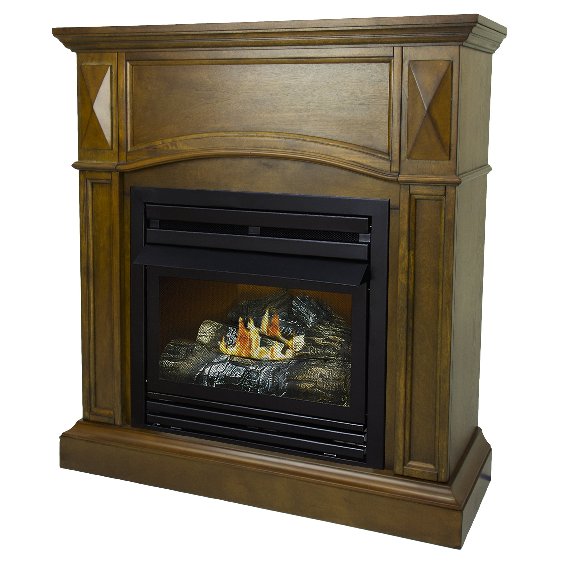 Pleasant Hearth 36 in. Natural Gas Compact Heritage Vent Free Fireplace System 20,000 BTU by GHP Group, Inc.