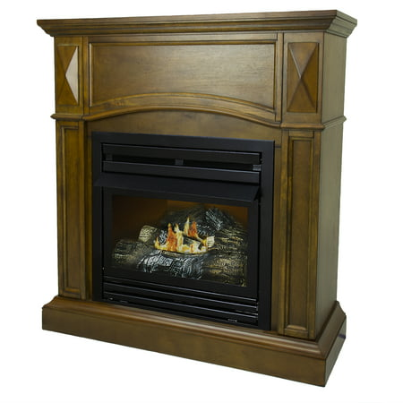 - Pleasant Hearth 36 in. Natural Gas Compact Heritage Vent Free Fireplace System 20,000 BTU