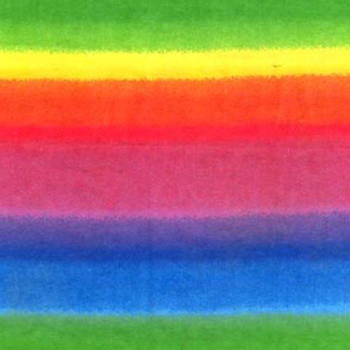 Flannel Print Fabric, Rainbow Stripes