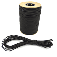 """10ft of Marine Masters 5/32"""" Black Bungee Shock Cord - Elastic Stretch Rope"""