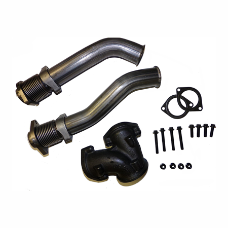 Bellowed Up Pipe Kit 1999-2003 Ford 7.3L Powerstroke Turbo Diesel with