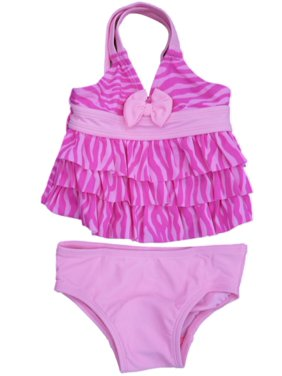 1a6be18622a62 Free shipping. Product Image Joe Boxer Infant Girls Pink Ruffle Swimming  Suit Swim 2 Piece Bathing Suit