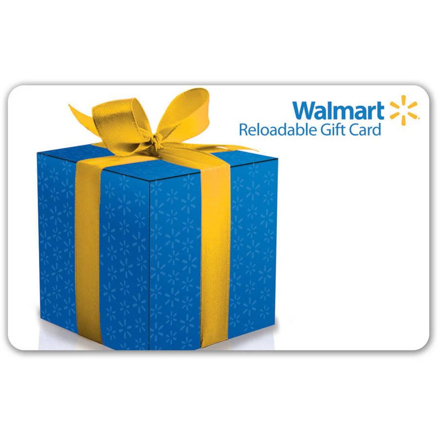 Blue Present Walmart Gift Card