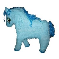 Large Horse Pinata, Blue, 19in x 19in