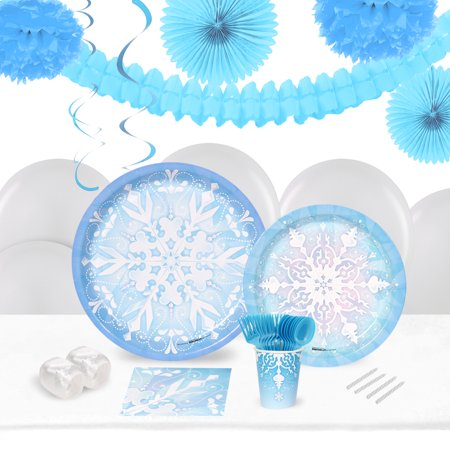 Winter Wonderland Theme For Sweet 16 (Winter Wonderland 16 Guest Tableware Decoration)