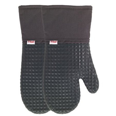 Flexible Waffle Silicone Oven Mitt, Two Pack, Charcoal - Fire Magic Charcoal Oven