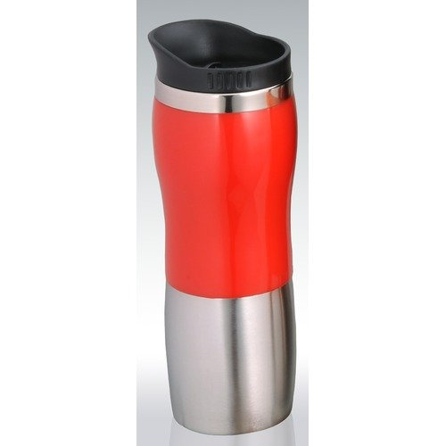 Creative Home 15 oz. Stainless Steel Travel Mug with Red Band