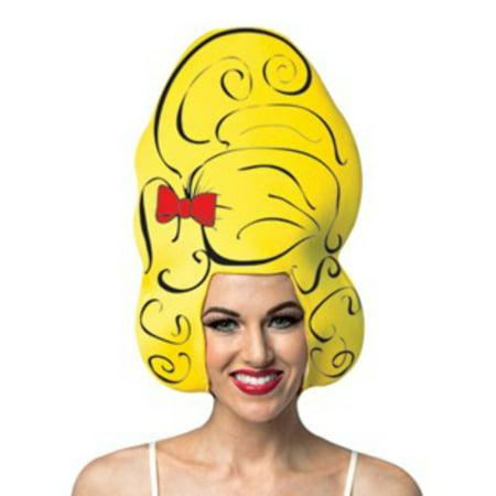 Yellow Beehive Comic Foam Adult Wig (Halloween Beehive Wigs)