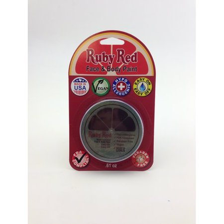 Uv Face Paint (RUBY RED PAINT, INC. Individual Color 18ml/0.61oz Face and Body)