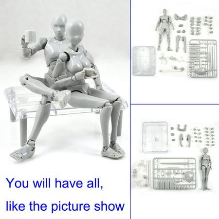 Lzndeal Action Figure Model Human Mannequin 2.0 Body Kun Doll Body-Chan Man Woman Action Figure Set for SHF Body Kun Doll PVC Body-Chan DX Set 2.0 - image 5 of 9