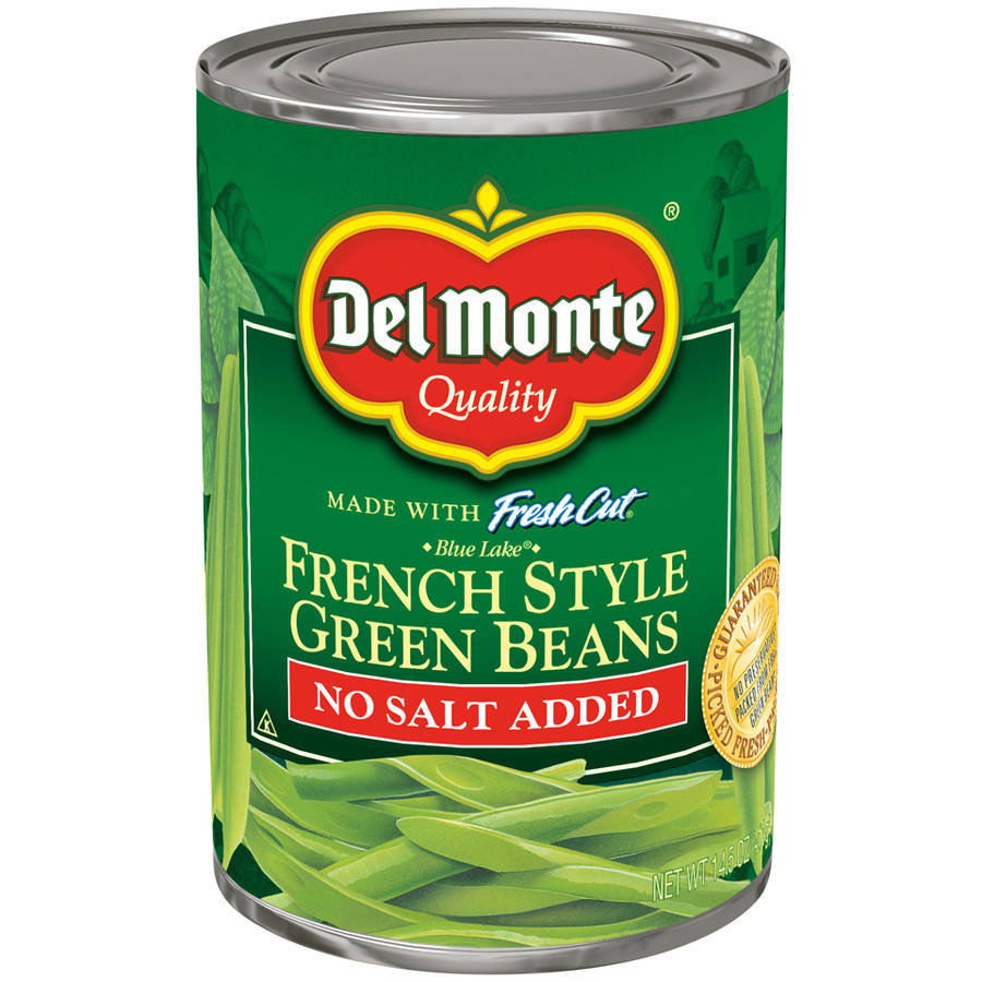 Del Monte No Salt Added Fresh Cut Blue Lake French Style Green Beans, 14.5 oz